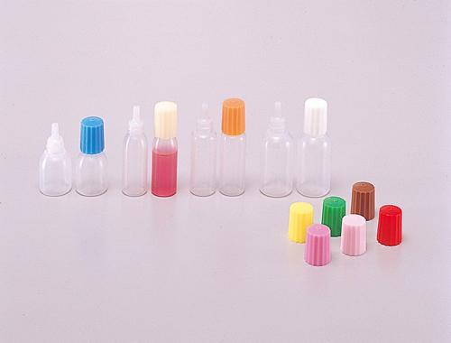 ポリ点眼瓶 滅菌済 5mL 本体原色 キャップ赤 1号(100本) 馬野化学容器