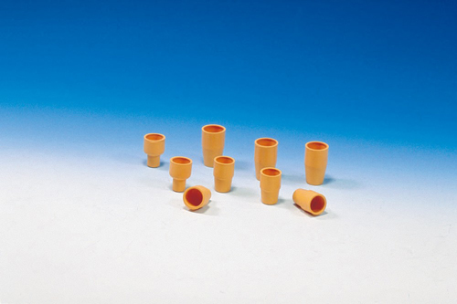 オレンジW栓(天然ゴム) 10ミリ試験管用 W-10(10個)