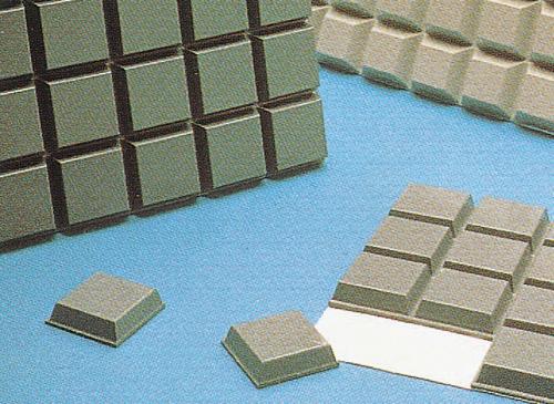 バンボンクッション 9.5φ×3.8HMM 透明 SJ-5306(340)