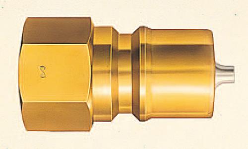 103-51904 SPカプラ(中圧・汎用型) プラグ 4P 鋼鉄 適用ネジR1/2 4P-A 日東工器