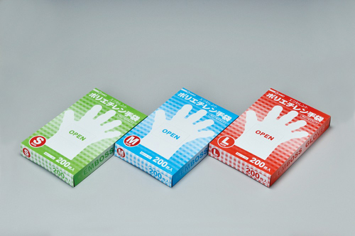 104-90301 エクセレントポリエチレン手袋 S(100枚) 三興化学工業
