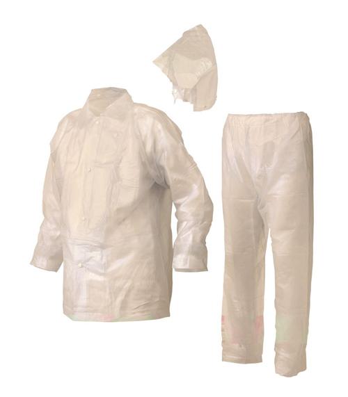 104-92724 ビニールレインスーツ 3L クリアー RF-3 おたふく手袋