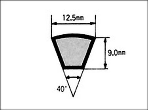 105-03947 耐熱Vベルト(レッド) 1676MM A型 No.66 三ツ星ベルト