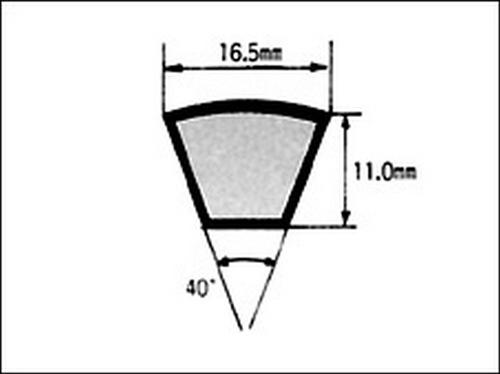 105-04018 耐熱Vベルト(レッド) 940MM B型 No.37 三ツ星ベルト