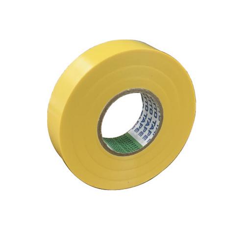 108-1180104 ビニールテープ 0.2MM×19MM×20M 黄 日東電工(Nitto)