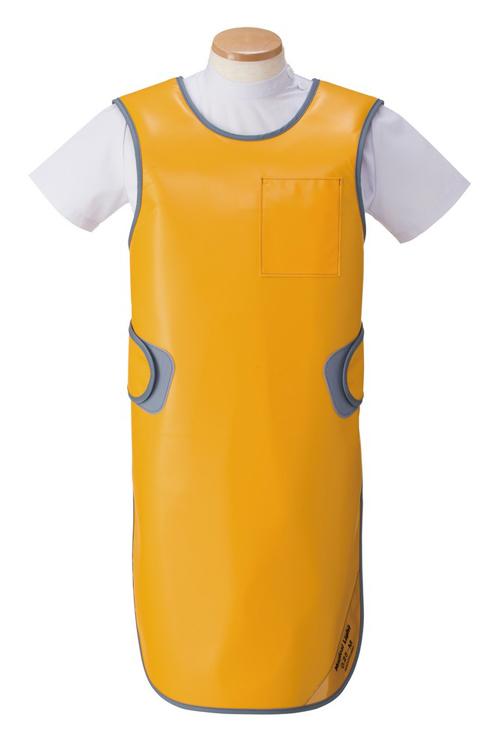 X線防護軽量タイプエプロン オレンジ 鉛当量0.25MMPB SLA-25M