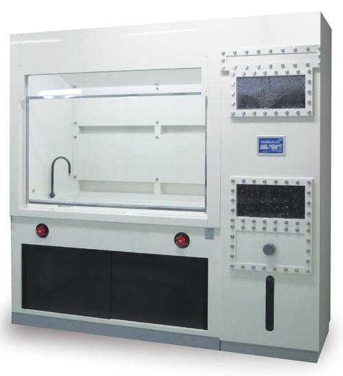 110-25301 スクラバー横置型ドラフトチャンバー 1400×750×2100HMM FDV-14-VVS-2 貴商エンジニアリング