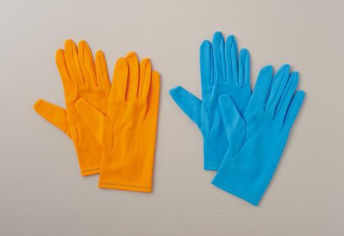 304-0000379 食品向けカラーナイロン手袋 サックス Sサイズ No.8010-1-C4-SP1-S(10双) ウインセス